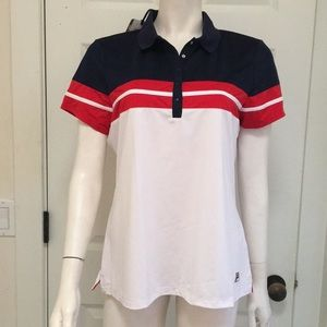 Fila Athletic/Athleisure Snap Front Polo, XL, NWT!